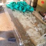 Pieskovanie skla